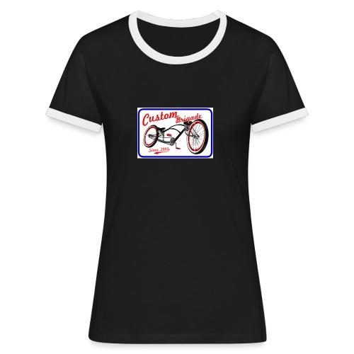 since0301 - T-shirt contrasté Femme
