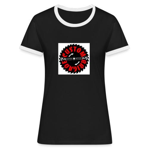 sci01 - T-shirt contrasté Femme