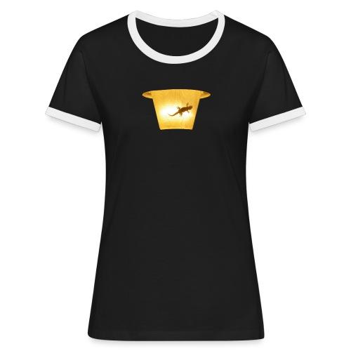 t shirt 8 gif - Frauen Kontrast-T-Shirt