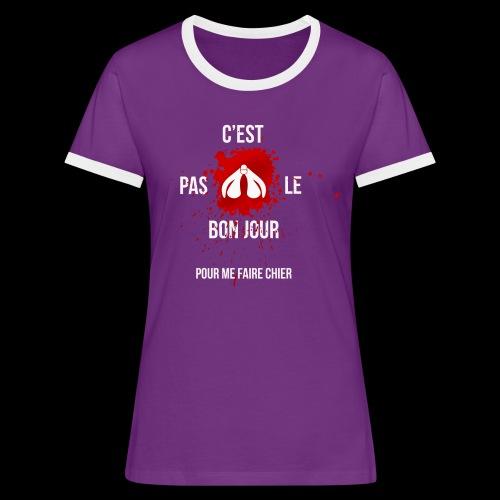 ne pas me faire chier - T-shirt contrasté Femme