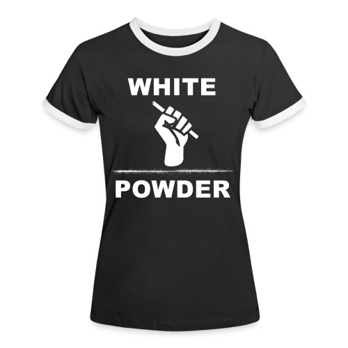 White Powder - Frauen Kontrast-T-Shirt