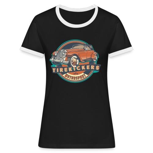 TIREKICKERS - V8 -Hotrod - Frauen Kontrast-T-Shirt