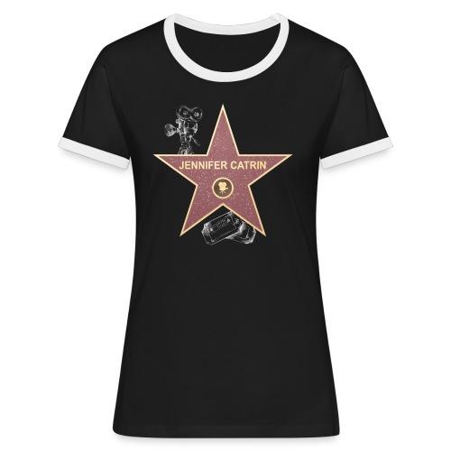 Stern 4 - Frauen Kontrast-T-Shirt