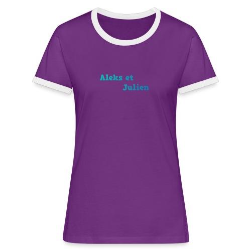 Notre logo - T-shirt contrasté Femme