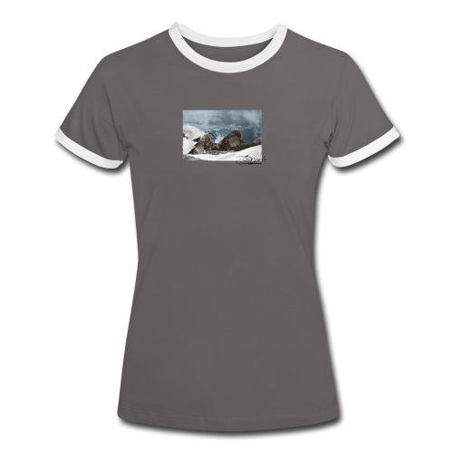 Mountains Colorized - Camiseta contraste mujer