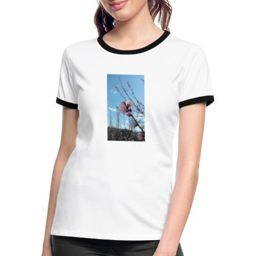 Fiore di pesco - Maglietta Contrast da donna