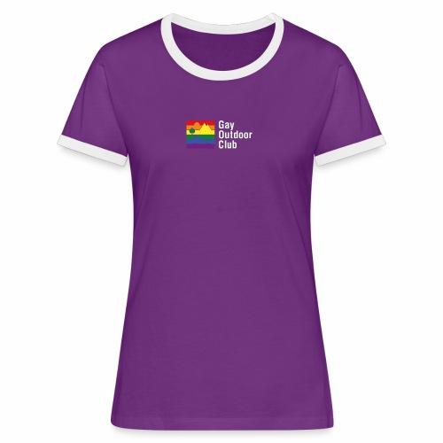 GOC Logo White Text - Women's Ringer T-Shirt