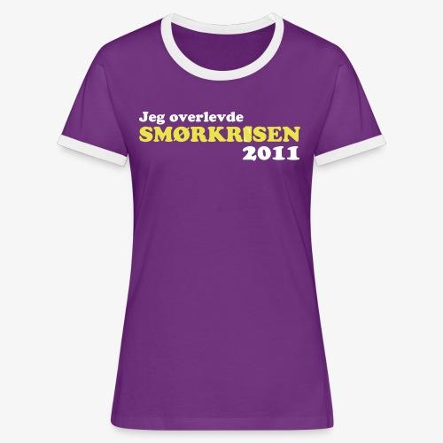 Smørkrise 2011 - Norsk - Kontrast-T-skjorte for kvinner