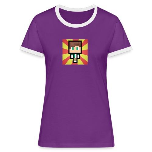 m crafter - Dame kontrast-T-shirt