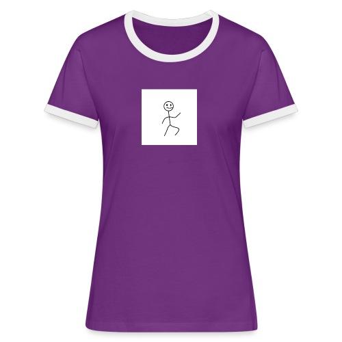 stick man t-shirt dance 1,0 - Dame kontrast-T-shirt