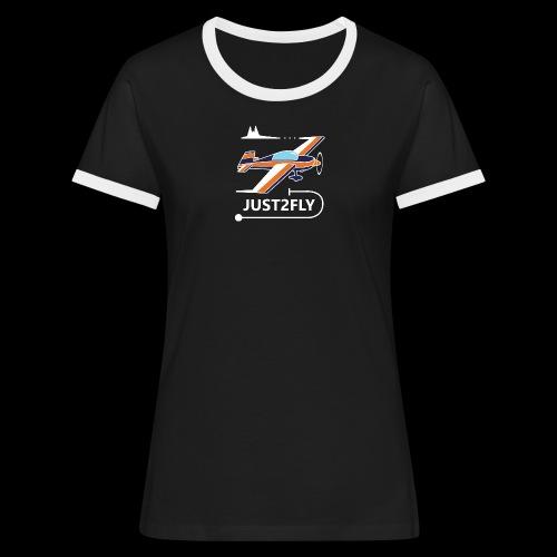 J2F - T-shirt contrasté Femme