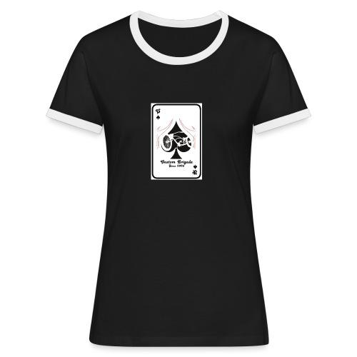 since0302 - T-shirt contrasté Femme