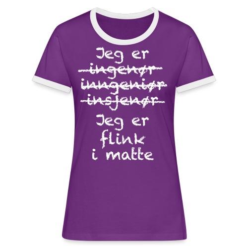 Flink i matte - Kontrast-T-skjorte for kvinner