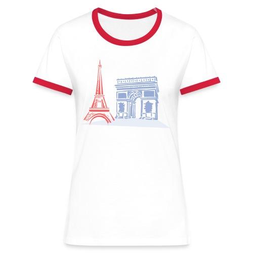 Paris - T-shirt contrasté Femme