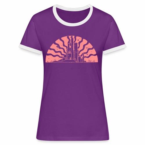 Fairytale Castle Sunrise - Frauen Kontrast-T-Shirt