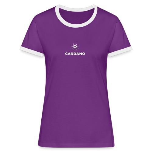 ADA - Koszulka damska z kontrastowymi wstawkami