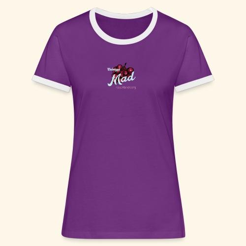Rote Traube - Frauen Kontrast-T-Shirt