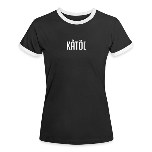 kåtöl_text_white - Kontrast-T-shirt dam