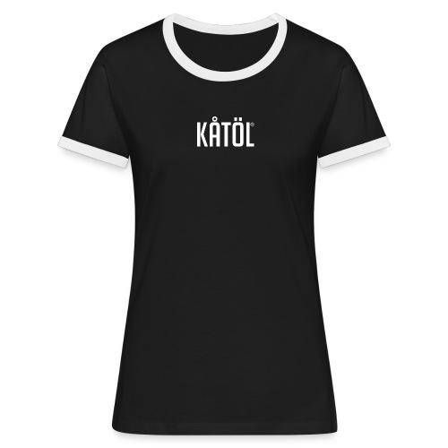kåtöl_text_white - Kontrast-T-shirt dam