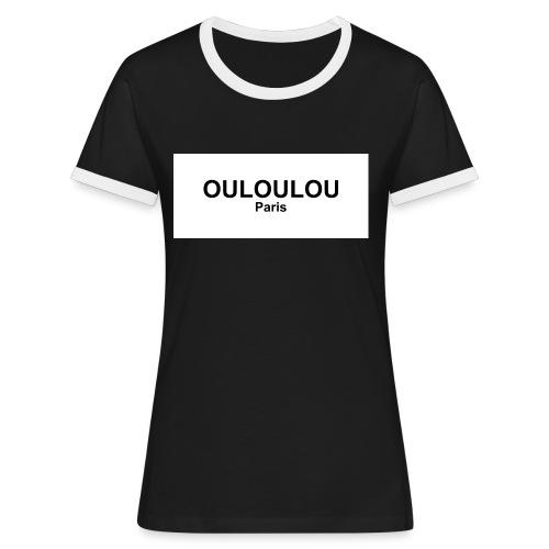 ouloulou ecriture noire 01 jpg - T-shirt contrasté Femme