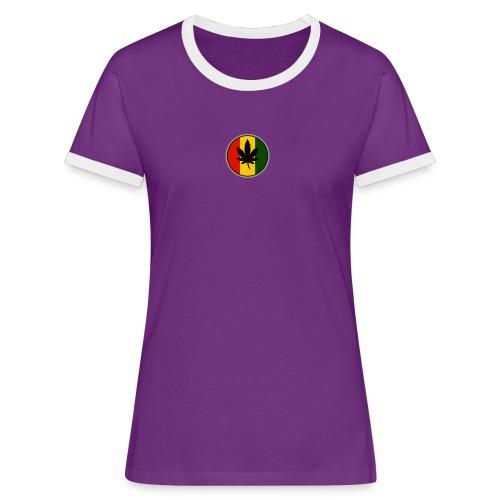 weed logo - Dame kontrast-T-shirt