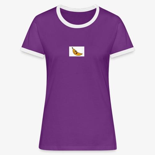 Bananana splidt - Dame kontrast-T-shirt