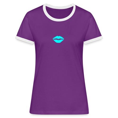Blue kiss - Women's Ringer T-Shirt