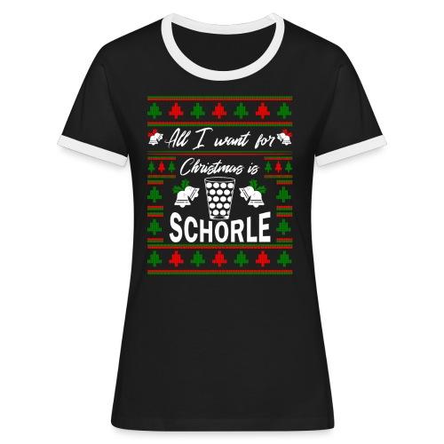 Ugly Christmas Schorle Pfälzer Weinschorle - Frauen Kontrast-T-Shirt
