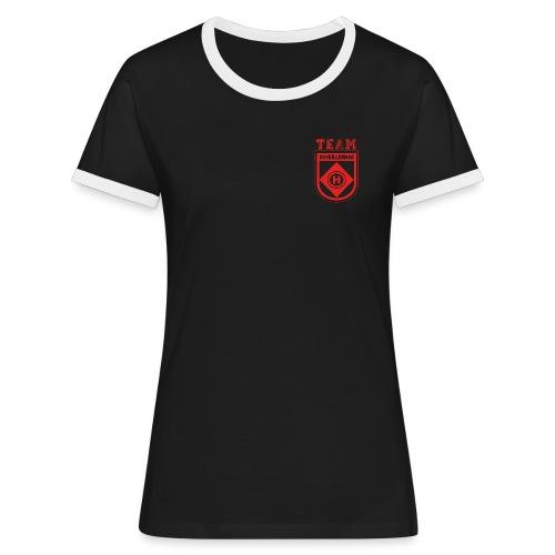 SVHullern68 Fanwear redblack - Frauen Kontrast-T-Shirt