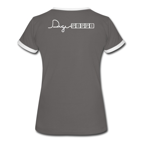 DP Logo White - Dame kontrast-T-shirt