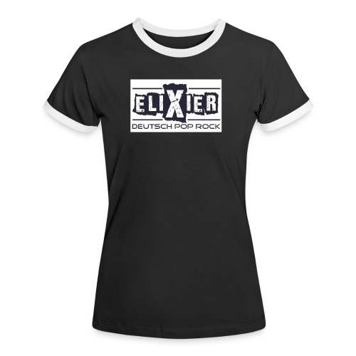 LogoElixier mit Text - Frauen Kontrast-T-Shirt