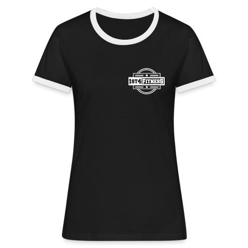1st4Fitness White Back & Front - Women's Ringer T-Shirt