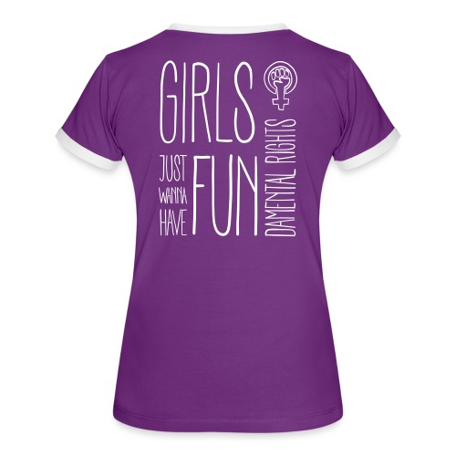 Girls just wanna have fundamental rights - Frauen Kontrast-T-Shirt