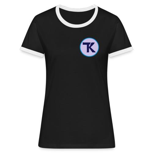 tk ohne text - Frauen Kontrast-T-Shirt