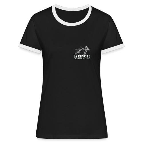 La Riposte Blanc - T-shirt contrasté Femme