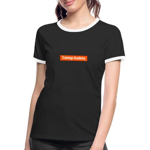 Personal Trainer Orange - T-shirt contrasté Femme