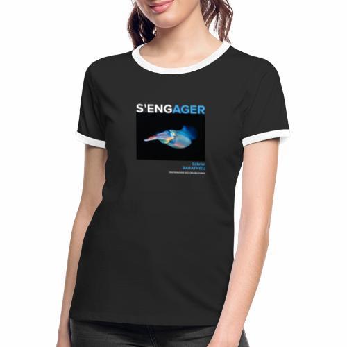1 Achat = 1 Don à l'association Deep blue explore - T-shirt contrasté Femme