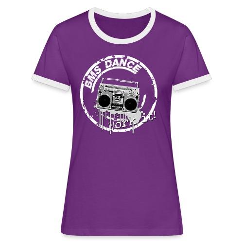 BMS Dance grey - Vrouwen contrastshirt