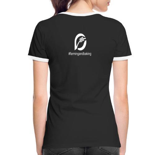farningandbaking onlywhite - Frauen Kontrast-T-Shirt