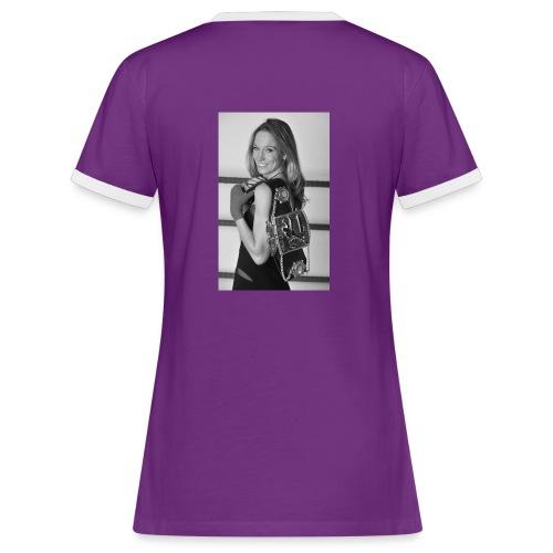 Unterstützungs-T-Shirt Christine Theiss, Männer - Frauen Kontrast-T-Shirt
