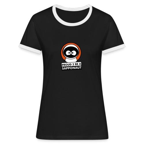 sapponaut v1 - Frauen Kontrast-T-Shirt