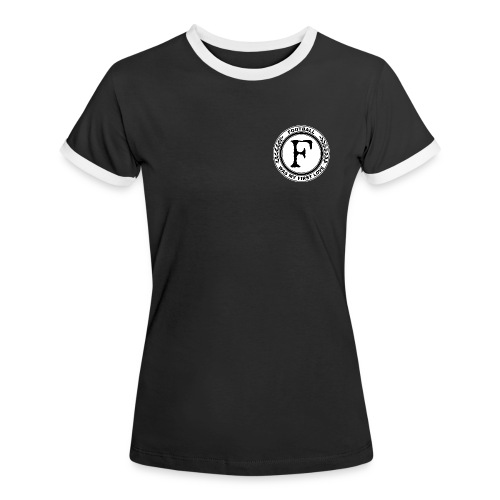 Football was my first love - Frauen Kontrast-T-Shirt