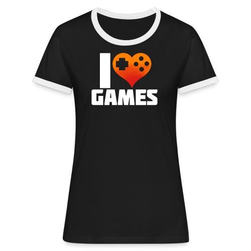 I <3 Games - Frauen Kontrast-T-Shirt