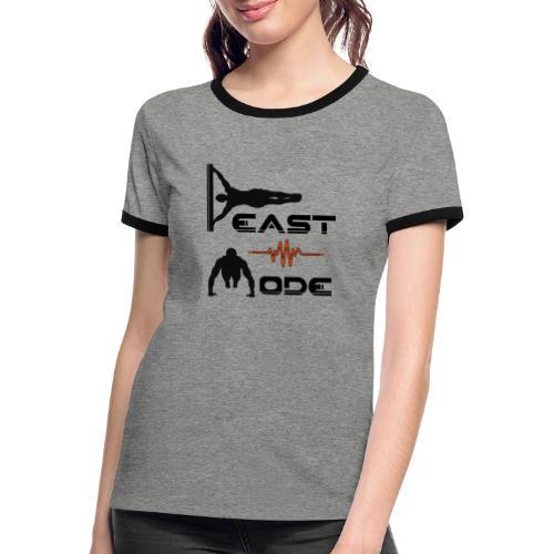 Beast Mode - Frauen Kontrast-T-Shirt