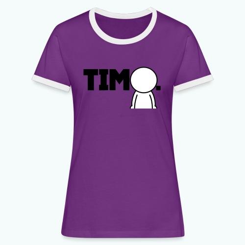 Design met ventje - Vrouwen contrastshirt