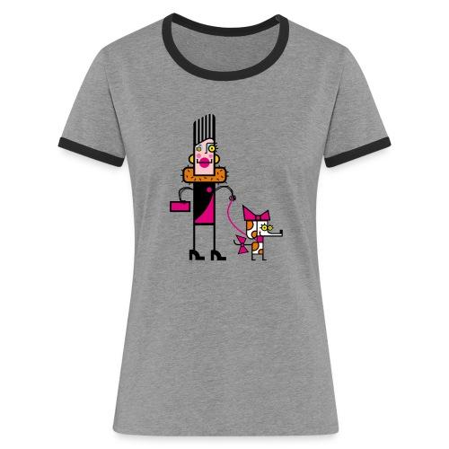Animal 1 - Maglietta Contrast da donna
