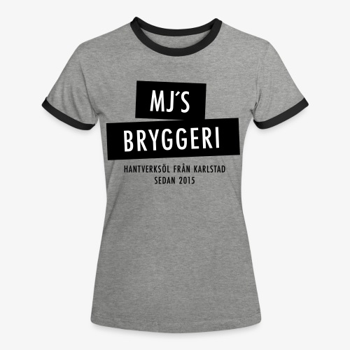 MJs logga - Kontrast-T-shirt dam