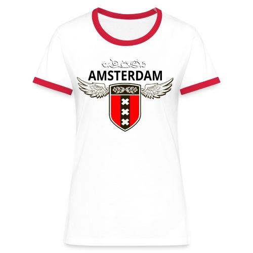 Amsterdam Netherlands - Frauen Kontrast-T-Shirt