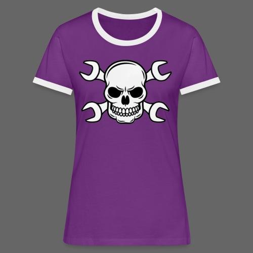 MEKKER SKULL - Dame kontrast-T-shirt