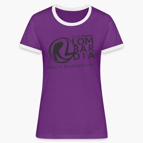 Uomo - Maglietta - Logo Nero - Maglietta Contrast da donna